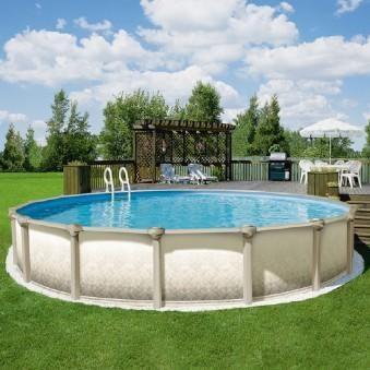 Zenith Above Ground Pool in backyard